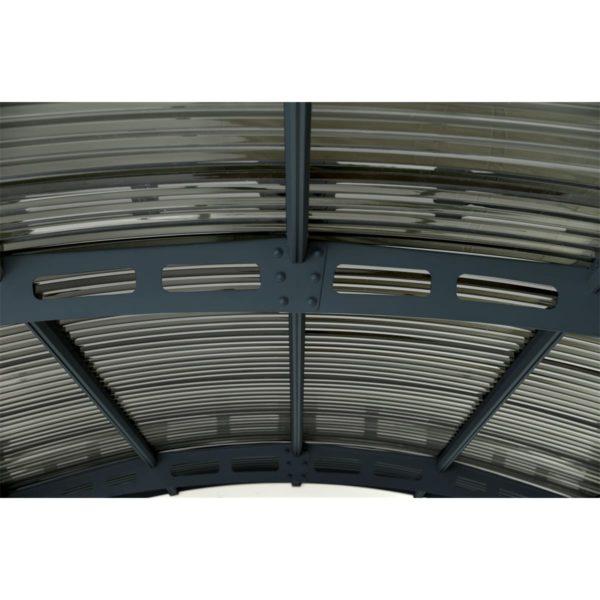 kocsibeálló íves tetőszerkezet